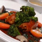 フランス料理(肉ロール)